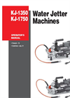 Ridge - Model KJ-1350 - Water Jetter Machine Manual