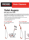 Ridge - Model K-3 and K-6 - Toilet Augers Brochure
