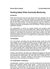 Working Safely While Technically Monitoring Brochure