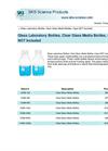 Clear Glass Media Bottles Brochure