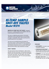 Model W270 - Hi-Temp Shut-off Valve Brochure