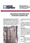Degassing Sparger with Nitrogen Generator Data Sheet - Broucher