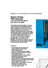 Model LCO 6 & 8 Bag Filter Housings Brochure (PDF 623 KB)