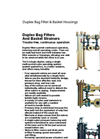 Duplex Bag Filter & Basket Housings Brochure (PDF 1.01 MB)