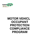 Motor Vehicle Occupant Protection Compliance Program- Brochure