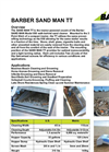 Sand Man - Model TT - Sand Sifting Beach Cleaner and Soil Screener Brochure