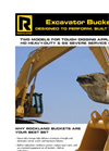 Rockland - Model HD (TO 11OK LB) - Heavy Duty Excavator Buckets Brochure