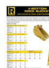 Rockland - V-Bottom - Rock Bucket - Spec Sheet