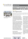 Application Note - SF6 Leak Testing - Gas Insulated Switchgear