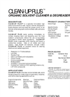 Clean-Up Plus Organic Solvent Cleaner & Degreaser Brochure