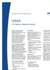 Model 1252A - Frequency Response Analyzer Brochure