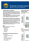 Greywater Recycling System Brochure