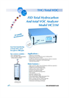 Model HC5IM FID Total Hydrocarbon and Total VOC Analyzer Brochure