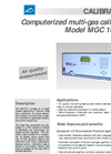 Model MGC 101 LCD Computerized Multi-Gas Calibrator Brochure