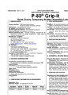 P-80 - Model Grip-it - Safety Data Sheets (SDS)
