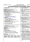 LF2100 - Low-foam Alkaline Cleaner - Safety Data Sheets (SDS)
