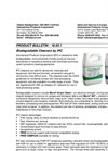 Biodegradable Cleaners Product Bulletin