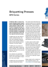 BPH Series – Hydraulic Briquetting Presses Brochure