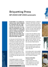 BP 2000 Briquetting Press Brochure