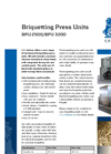 BPU 2500 And BPU 3200 - Briquetting Press Units Brochure