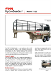 FINN HydroSeeder - Model T120S - 1,000 Gallon Working Capacity Tank - Datasheet