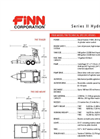T-90 HydroSeeder - 800 Gallon Working Capacity Tank Technical Specifications - Datasheet