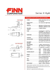 FINN HydroSeeder - Model T60 - 600 Gallon Working Capacity Tank - Technical Specifications