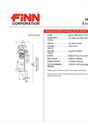 BB-705 Bark Blowers - 4.5 Cubic Yard Hopper Capacity - Technical Specifications Datasheet