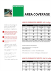 Hydroseeding: Area Coverage Brochure