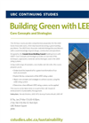 LEED Core Concepts & Strategies