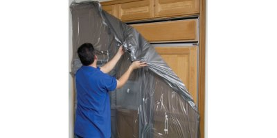 Americover - Self Adhesive Plastic Sheeting - Cabinet Cover