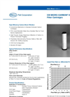 CB Micro-Carbon II Series Filter Cartridges Brochure (PDF 117 KB)