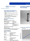 SCC Micro-Carbon II Series Filter Cartridges Brochure (PDF 75 KB)