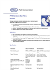 PTFE Membrane Disc Filters Brochure (PDF 201 KB)