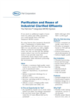 Purification and Reuse of Industrial Clarified Effluents (PDF 92 KB)