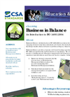 Training/Formation Business in Balance: An Introduction to ISO 14001 Brochure