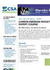 Training/Formation Carbon Emission Reduction Expert ISO 14064-2 Expert - Greenhouse Gas Projects Brochure