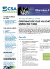 Training/Formation Greenhouse Gas Validation Using ISO 14064 Brochure