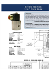 Model EH30 Series - High Pressure Solenoid Valves Brochure