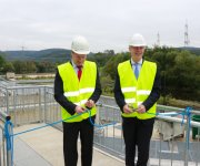 The state of North Rhine-Westphalia and RWE Innogy officially inaugurated pilot plant for fish protection