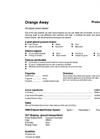 Total Solution - Model AL-8378 - Aerosol Orange Away Natural Cleaner - Spec Sheet
