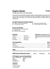 Total Solution - Model AL-8550 - Engine Starter Aerosol Spray - 12 Cans/Case - Spec. Sheet