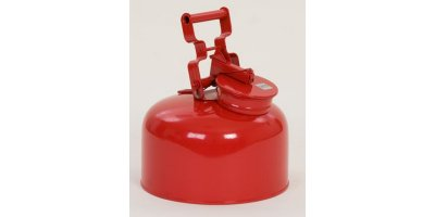 EAGLE - Model 1423 - Disposal Can, 2.5 Gal. Galvanized Steel - Red