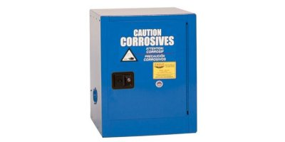 Eagle - Model CRA-1904 - Metal Acid & Corrosive Safety Cabinet, 4 Gal. Blue, One Door, Manual Close