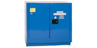 Eagle - Model CRA-71 - Metal Acid & Corrosive Safety Cabinet, 22 Gal. Blue, Two Door, Manual Close