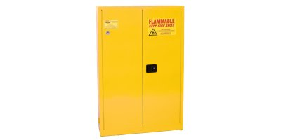 EAGLE - Model YPI-77 - Paint & Ink Safety Cabinet, 30 Gal. Yellow, Two Door, Manual Close