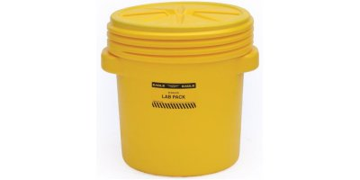 EAGLE - Model 1650 - Lab Pack Poly Drum, 20 Gal. Yellow with Screw-On Lid
