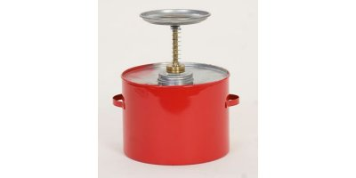 EAGLE - Model P-704 - Plunger Can 4 Qt. Metal - Red