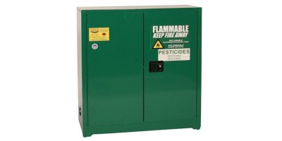 Eagle - Model PEST32 - Pesticide Safety Storage Cabinet, 30 Gal. Green, Two Door, Manual Close