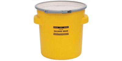 EAGLE - Model 1654 - Salvage Drum, 20 Gal. Yellow with Metal Lever-Lock Ring